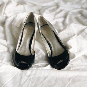 Ralph Lauren peep toe heels size 9